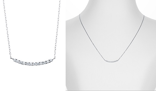 ふるさと納税 お礼品! ARC-EN-CIEL K18WG ダイヤペンダント