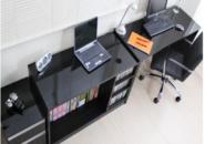 ふるさと納税おすすめ!大阪府 泉佐野市F026 鏡面パソコンデスク3点セット