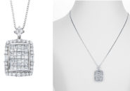 ふるさと納税でおすすめ宝石 S040 ARC-EN-CIEL PT ダイヤペンダント